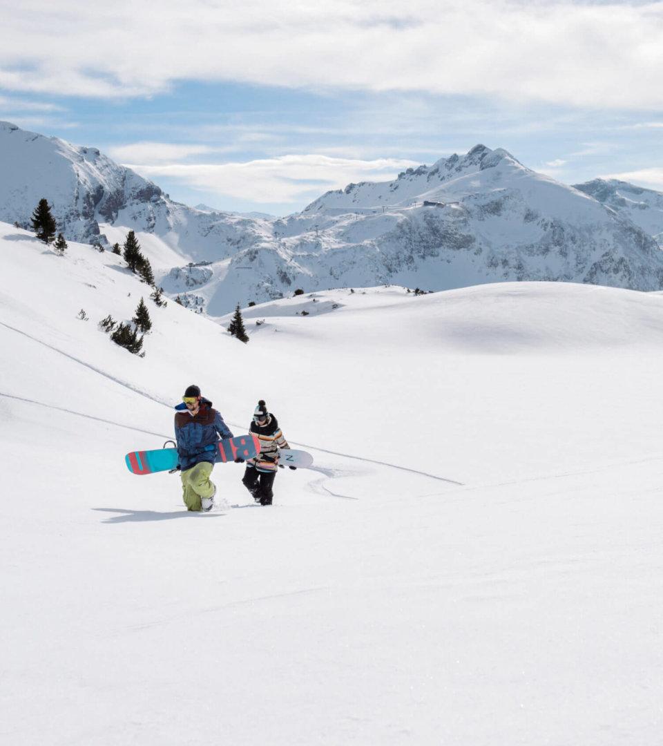 Snowboarden in Obertauern (c) Tourismusverein Obertauern