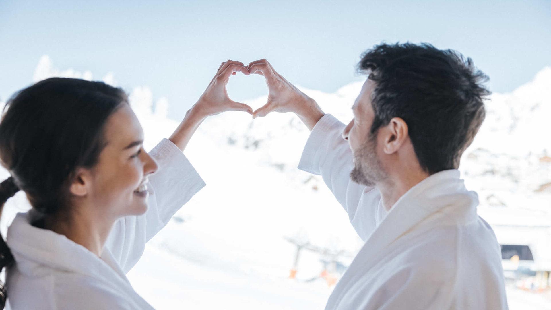 Paar im Hotel Schneider