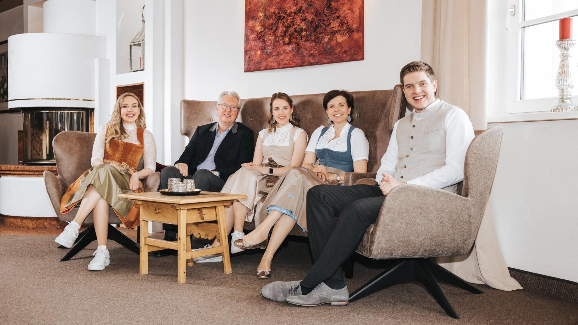 Familie Schneider im Hotel Schneider, Obertauern