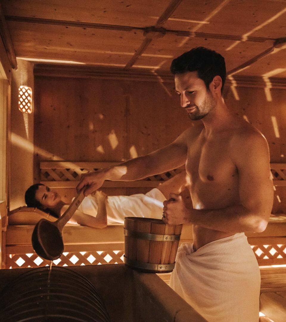 Sauna im Hotel Schneider in Obertauern
